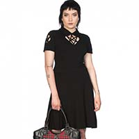 Sacred Pentagram Sweetheart Dress by Banned Apparel