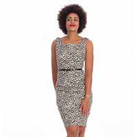 Wild Child Leopard Pencil Dress by Banned Apparel