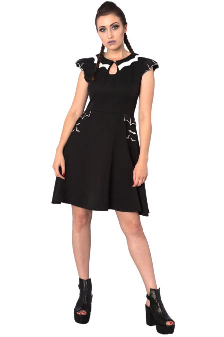 Bell Tower Bat Wing Collar Dress by Banned Apparel - SALE