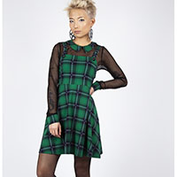 Green House Tartan Collared Dress by Jawbreaker - SALE