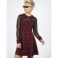 Burgundy House Tartan Collared Dress by Jawbreaker (Sale price!)
