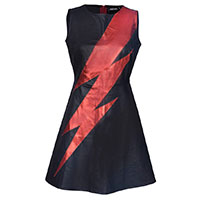 Aladdin Sane Faux Leather Tribute A-Line Dress by Jawbreaker