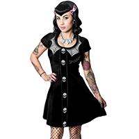 Spooky Girl Flared Skater Dress by Kreepsville 666 - White Web