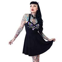 Black Cat Kattitude Tank Dress by Kreepsville 666