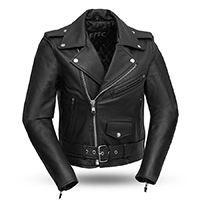 Bikerlicious Womens Soft Cowhide Motorcycle Jacket by First MFG