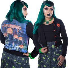 Goosebumps Pumpkin Crew Cardigan by Kreepsville 666 - SALE sz M only