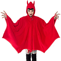 Kreepsville 666 Devil in Disguise Red Batwing Cape