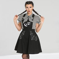 Miss Muffet Spiderweb 50's Pinafore Dress by Hell Bunny