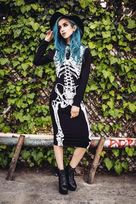 Wishbone Long Sleeve Midi Dress by Iron Fist -- in black - SALE sz XS only