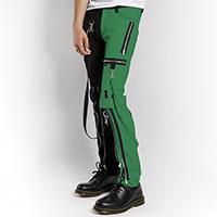Split Leg Bondage Pants w Straps by Tripp NYC - Black & Green sz 32 only