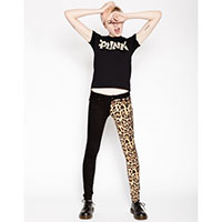 Split Personailty Split Leg Jean by Tripp NYC - Leopard & Black - SALE
