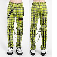 Lime Plaid Unisex Bondage Pants by Tripp NYC