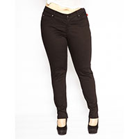 Plus Size Black T-Back Skinny Jean by Tripp NYC