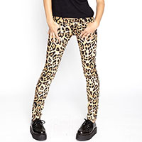 Natural Leopard- Girls Skinny T Back Jean by Tripp NYC - SALE
