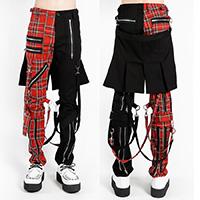 Split Leg Unisex Bumflap Bondage Pants w Straps by Tripp NYC