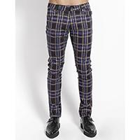 Tripp NYC Rocker Purple Plaid Skinny Stretch Jeans
