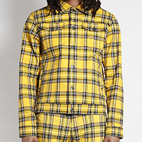 Yellow Plaid Unisex Trucker Jacket - by Tripp NYC