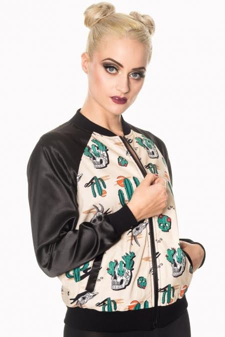 Lost And Found Western Rockabilly Bomber Jacket by Banned Apparel - SALE sz XS only