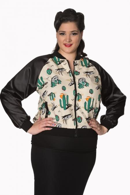 Lost And Found Plus Size Rockabilly Western Bomber Jacket by Banned Apparel - SALE