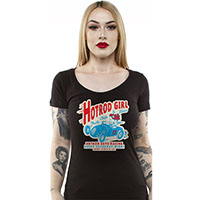 Hot Rod Girl Women's Scoop Neck shirt by Lucky 13