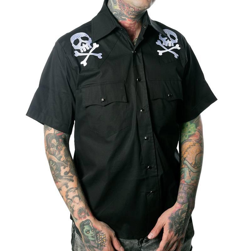 Captain Harlock button up Western shirt by Kreepsville 666