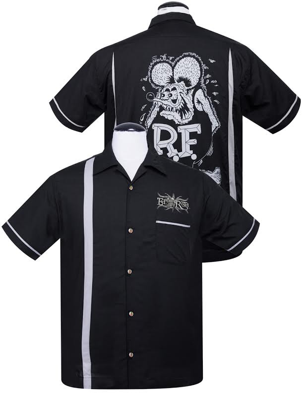 Rat Fink Kustoms Button Up Bowler Shirt by Steady Clothing - sz 4X only