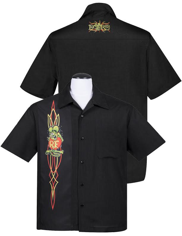 Rat Fink Pinstripe Button Up Panel Shirt by Steady Clothing - SALE