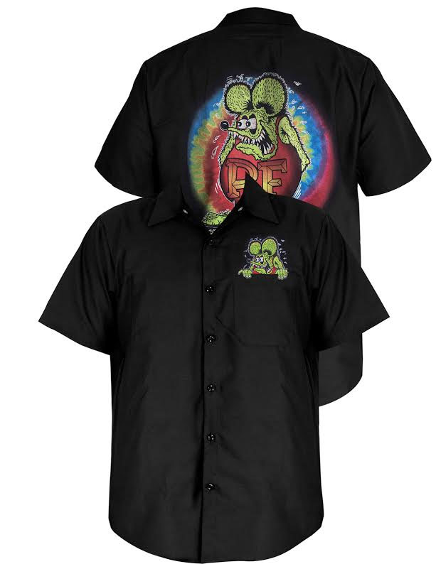 Rat Fink Tye Dye Workshirt by Steady Clothing