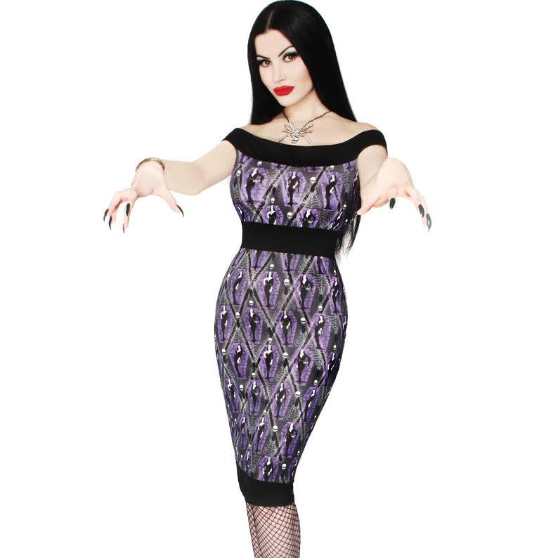 Vampira Arghoul Pencil Dress by Kreepsville 666