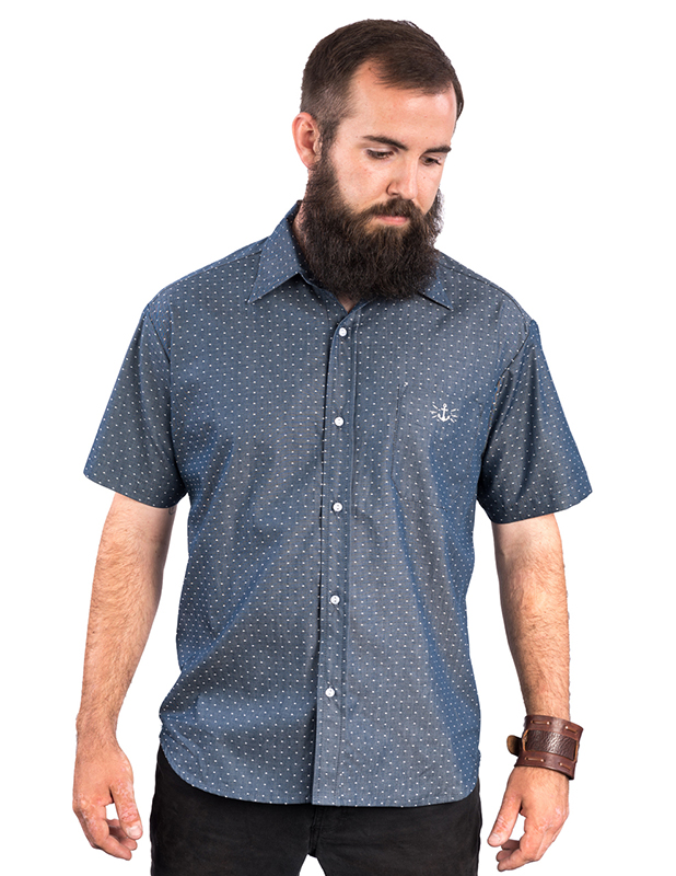 Half Seas Button Up Western Shirt by Steady - in Indigo - SALE