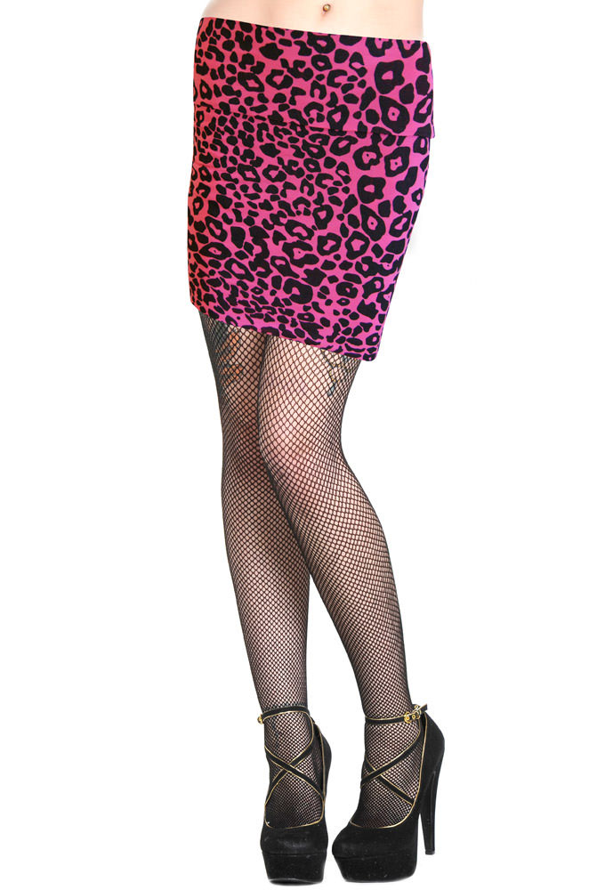 Hot Pink Leopard Mini Skirt by Banned Apparel