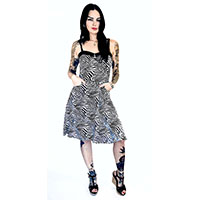 Zebra Print Pocket Swing Dress by Switchblade Stiletto - SALE
