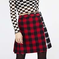 Two Tone Plaid Mini Kilt Skirt by Jawbreaker