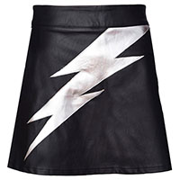 Aladdin Sane Faux Leather Tribute A-Line Skirt by Jawbreaker