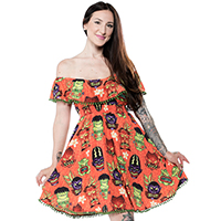 Monster Tiki Fiesta Dress by Sourpuss