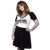 Dig Ya Later Hearse Raglan Skater Dress by Sourpuss