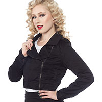 Black Moto Jacket - by Sourpuss