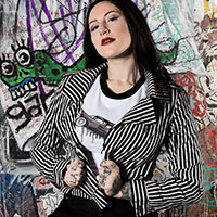 Striped Moto Jacket - by Sourpuss - SALE