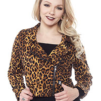 Leopard Moto Jacket - by Sourpuss