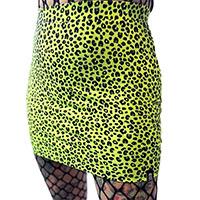 Neon Leopard Mini Skirt by Sourpuss
