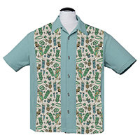 Hula & Cocktails Panel Shirt by Last Call - Steady Clothing - Teal