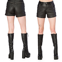 Hell Bent For Studs Shorts by Banned Apparel