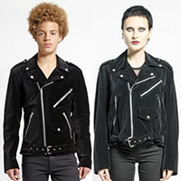 Black Velvet Unisex Biker Jacket - Basic Moto by Tripp NYC - SALE sz XS only