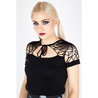 Spiderweb Knit Top by Jawbreaker - in black - SALE