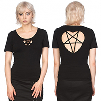 Sacred Pentagram Top by Banned Apparel