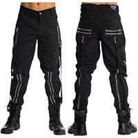 Black Unisex Zip Bondage Pants by Banned Apparel