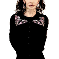 Floral Bats Cardigan by Too Fast Clothing