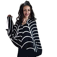 Tangled Web We Weave Knit Sweater Poncho / Cape by Too Fast Clothing - SALE