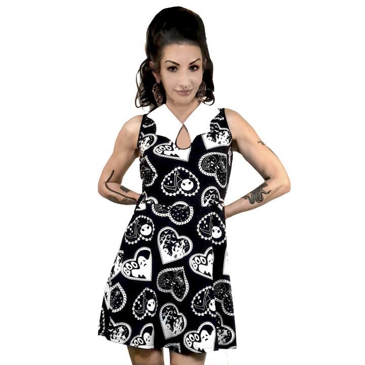 3ba3caa5da41 Bat Collar Dress by Too Fast / Rat Baby Clothing - Haunted Hearts ...