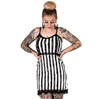 Distressed Striped Slip Dress by Too Fast / Rat Baby Clothing
